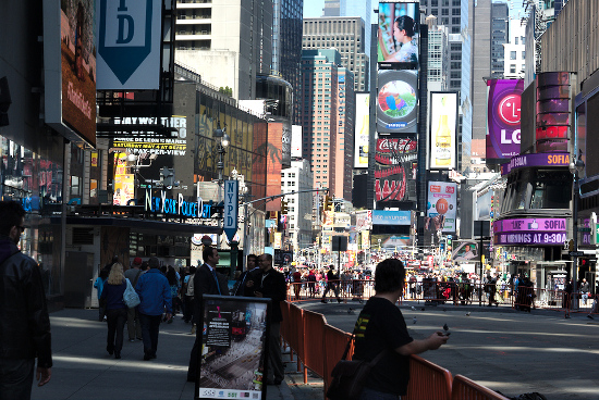 Times Square, New York City, New York, United States of America.